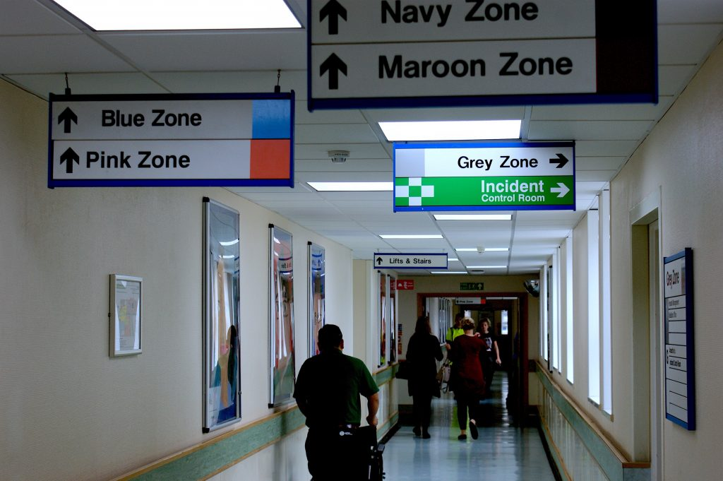 Picture of a hospital corridor